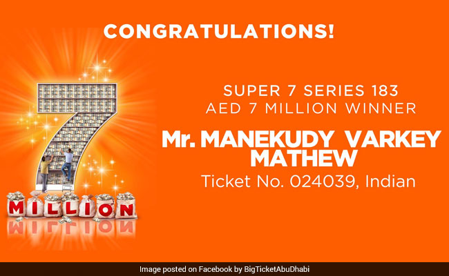 Indian Man Wins USD 1.9 Million In UAE Lucky Draw