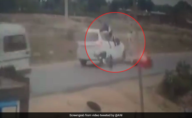 Watch: 3 Women Flung In Air After Head-On Collision With Car, All Survive