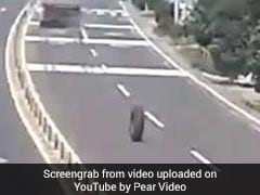 Runaway Tyre Spotted Rolling Down Highway. See Where It Landed
