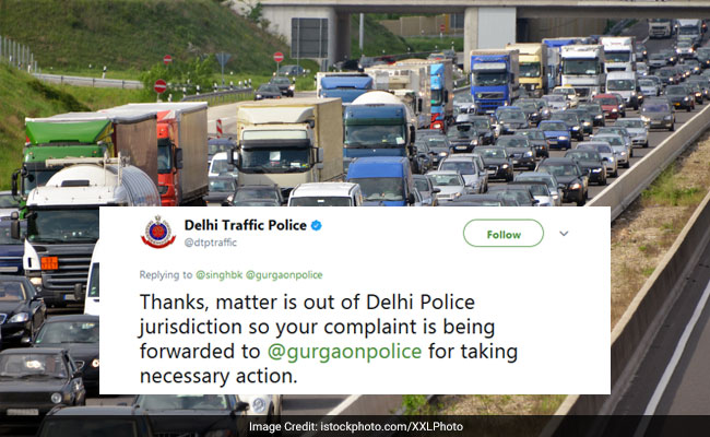 It's Delhi Traffic Police Vs Gurugram Police On Twitter. Nobody's Amused