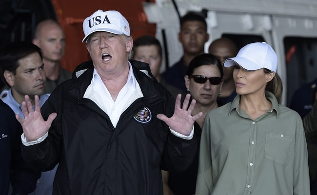 Donald Trump Visits Hurricane Hit Puerto Rico To Highlight Storm Response
