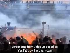 Watch: Race Car Skids, Sprays Flames Into Crowd, Fans On Fire