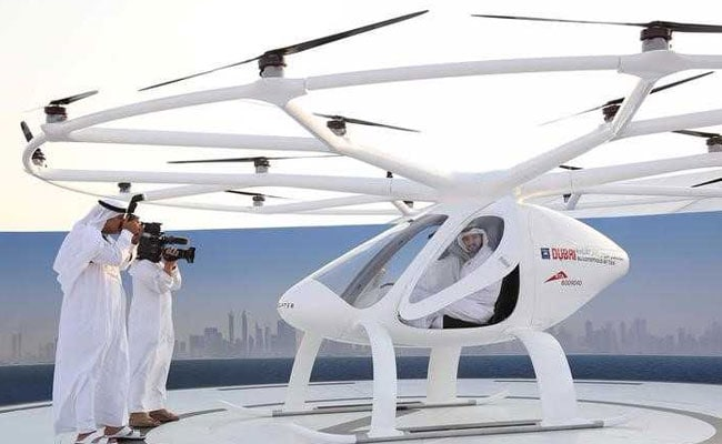dubai crown prince flying taxi reuters
