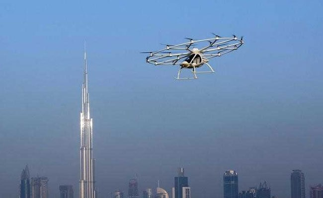 Dubai Stages First Public Test of Drone Taxis