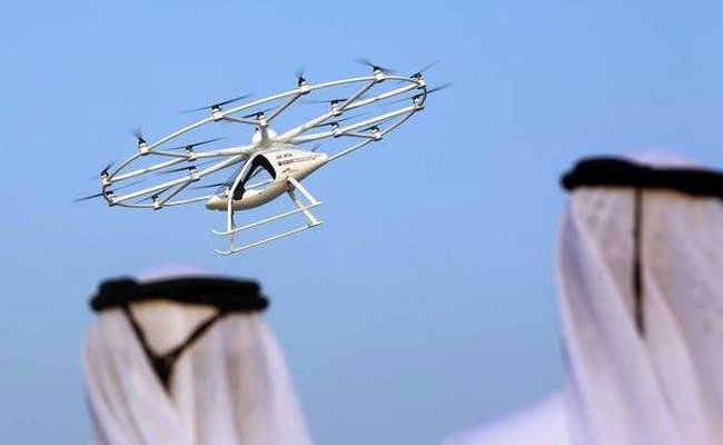 Volocopter flying taxi takes unmanned flight over Dubai
