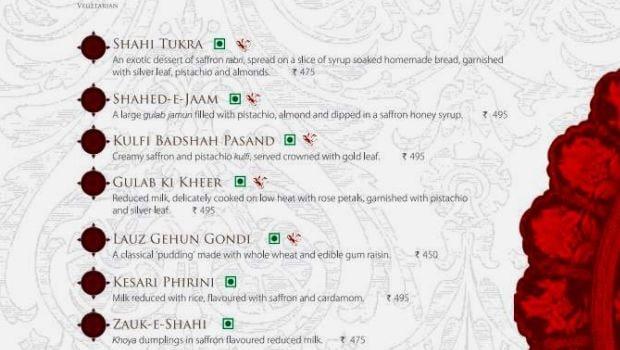 dum pukht menu