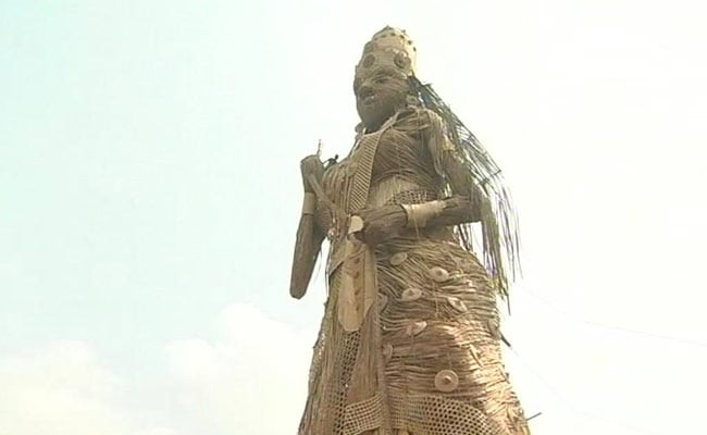 Guwahati's 100-Feet Durga Idol Aims For Guinness Book of Records