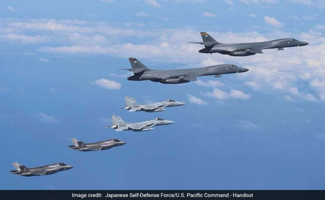 Pentagon's Latest, Fiery Show Of Force Against North Korea Includes F-35s And B-1B Bombers