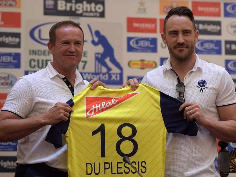 World XI Visit Is Much More Than A Cricket Tour: Faf du Plessis