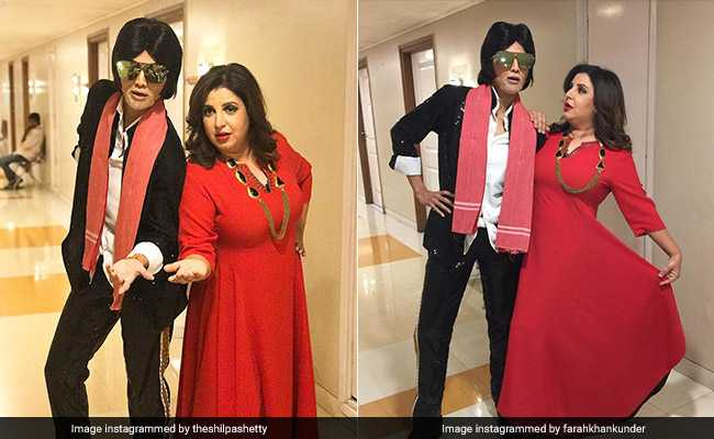 अमिताभ बच्चन और फराह खान साथ-साथ... नहीं नहीं यह तो कोई और है