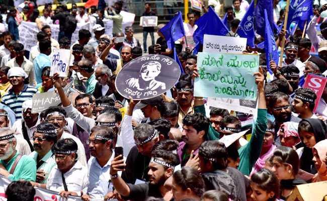 gauri lankesh murder protest pti