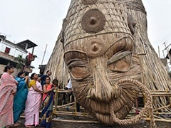 Guwahati's 101-Foot Durga Idol To Be World's Tallest Bamboo Sculpture