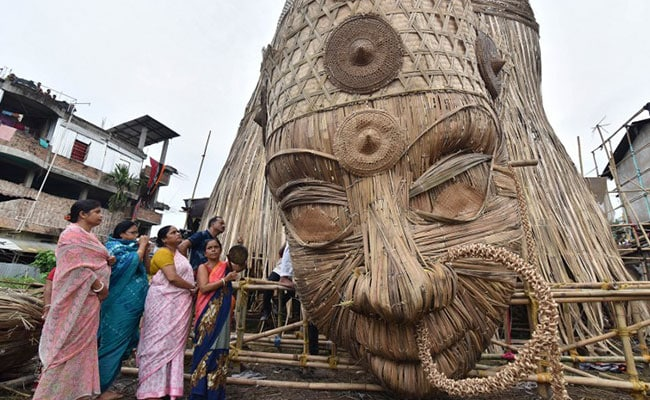 Guwahati's 101-Foot Durga Idol To Be World's Tallest Bamboo Sculpture