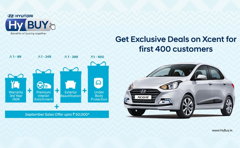 Hyundai announces online buying experience for its Xcent subcompact sedan