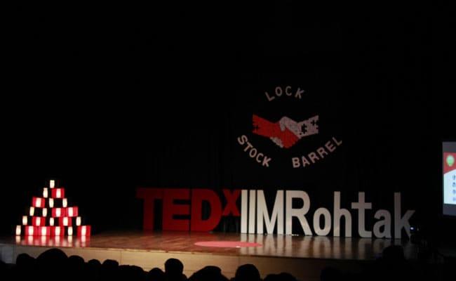 Lock, Stock And Barrel: IIM Rohtak Organises Third TEDx Event