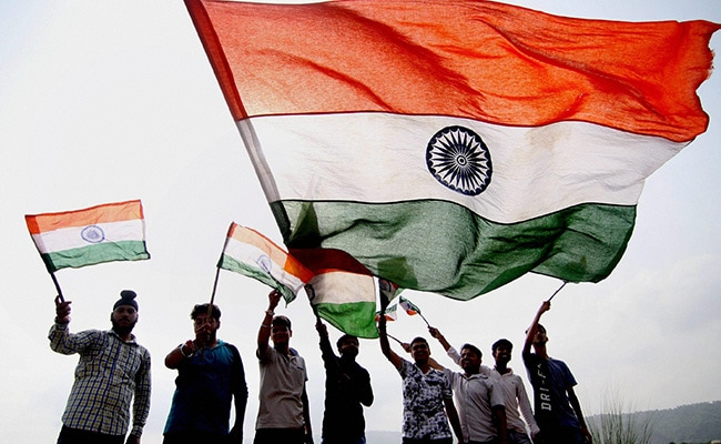 indian tricolor on independence day