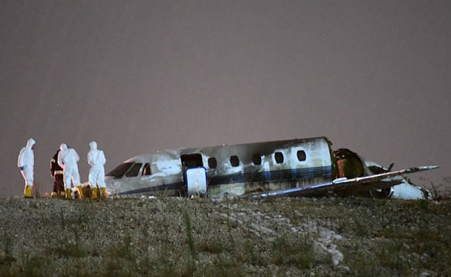 Private Jet Crashes Into This Airport, Bursts Into Flames, 4 Injured