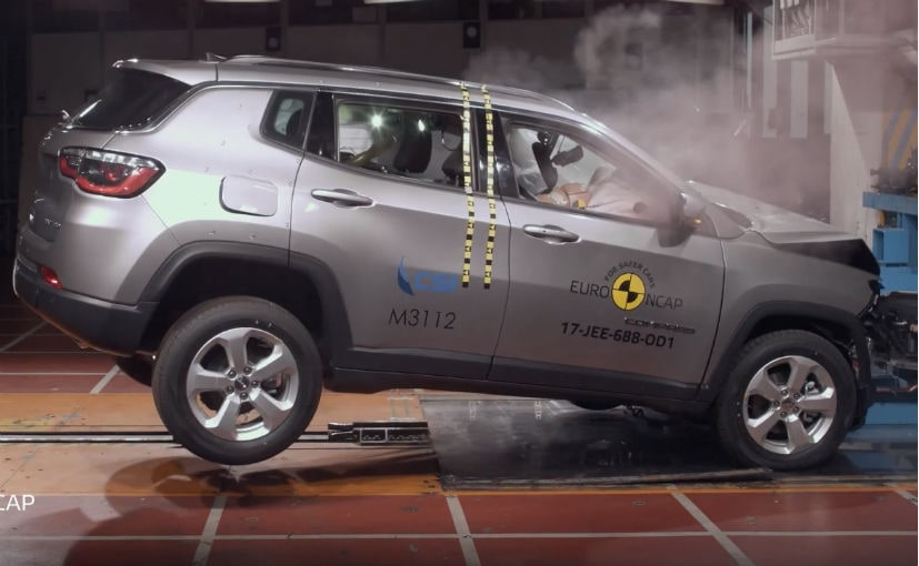The Jeep Compass (left hand drive) has scored a 5-star rating in Euro NCAP crash tests.