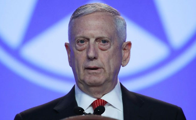 United States defence secretary Jim Mattis arrives in Delhi