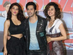<i>Judwaa 2</i>: Varun Dhawan Shares Proof That All's Well Between Jacqueline Fernandez And Taapsee Pannu