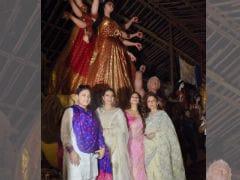 Durga Puja 2017: Kajol, Tanishaa, Sharbani Get Into Festive Mode