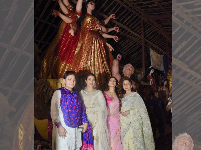 Durga Puja 2017: Kajol, Tanishaa, Sharbani Get Into Festive Mode