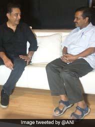 A Superstar As Aam Aadmi:  When Kamal Haasan Met Arvind Kejriwal