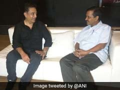 Kamal Haasan, Aam Aadmi Today. Daughter Meets Arvind Kejriwal At Airport