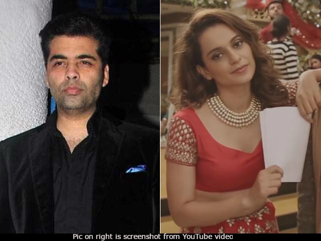 Karan Johar's 'Dear Talent' Tweet A Reaction To Kangana Ranaut's Song, Thinks Twitter