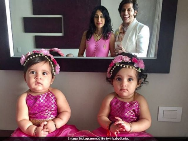 Karanvir Bohra's Twins Were The Stars At This Family Wedding. See Cute Pics