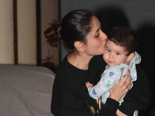 Trending (Again): Kareena Kapoor Gives Baby Taimur A Kiss And Cuddle