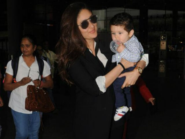 Kareena Kapoor Khan Flies Home From Veere Di Wedding Shoot With Baby Taimur. See Pics
