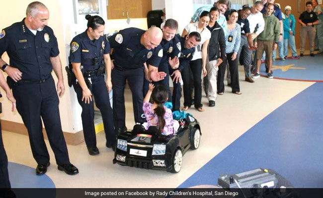 kids drive cars in hospital 650 fb