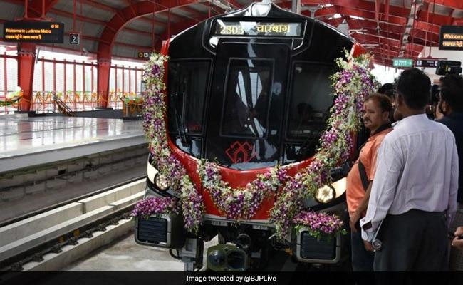 Rajnath Singh, Chief Minister Yogi Adityanath Inaugurate Lucknow Metro