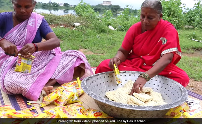 Grandma Cooks 100 Packets Of Maggi. Video Will Make You Very Hungry
