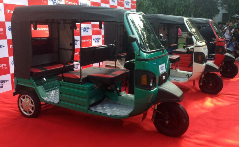 mahindra e alfa mini e rickshaw