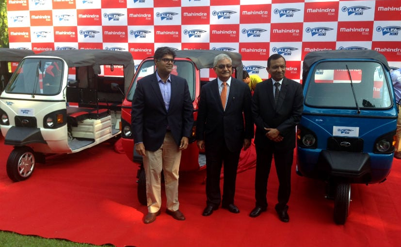 Image result for Mahindra unveiled e-Alfa Mini Electric Rickshaw in India at Rs 1.12 lakh