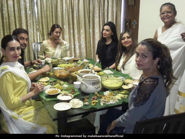 Onam 2017: Malaika Arora And Karisma Kapoor's Traditional Sadhya