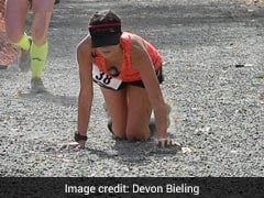 Runner Collapses Near Finishing Line. What She Does Next Is Inspirational