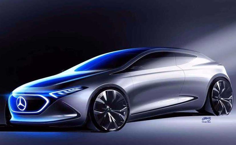 New mercedes benz concept eq a sketch shows it 39 s a sleek for Mercedes benz concept eq