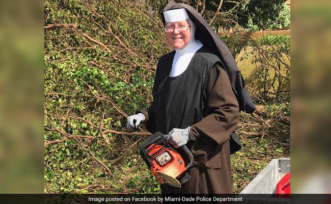 Chainsaw-Wielding Nun Joins Relief Work In Hurricane Irma-Hit Florida