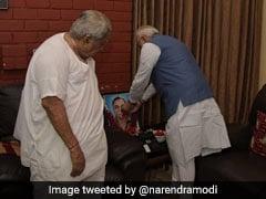 PM Modi Visits Keshubhai Patel's Home To Condole His Son's Death