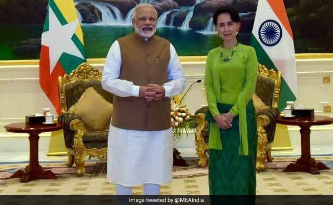 PM Modi Gifts Special Copy Of Aung San Suu Kyi's Original Research To Her