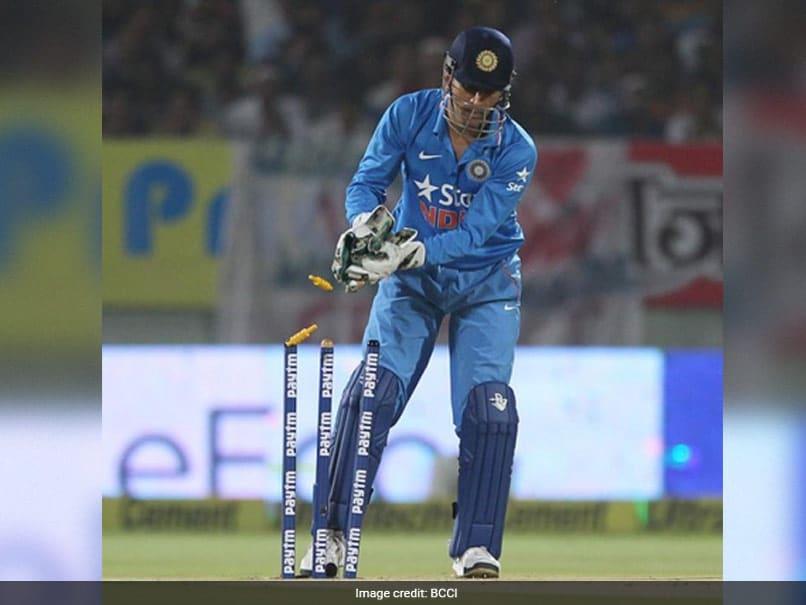 Mahendra Singh Dhoni Hits Century Of Stumpings