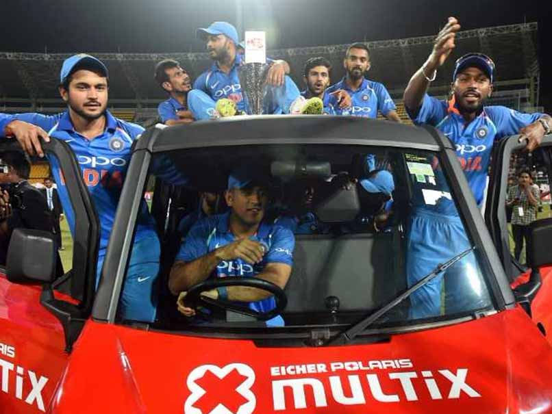 MS Dhoni Enthralls Fans By Taking Jasprit Bumrah's Man Of The Series 'Award' For A Spin