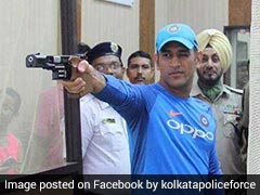 Watch: Mahendra Singh Dhoni Picks Up Gun Ahead Of 2nd ODI