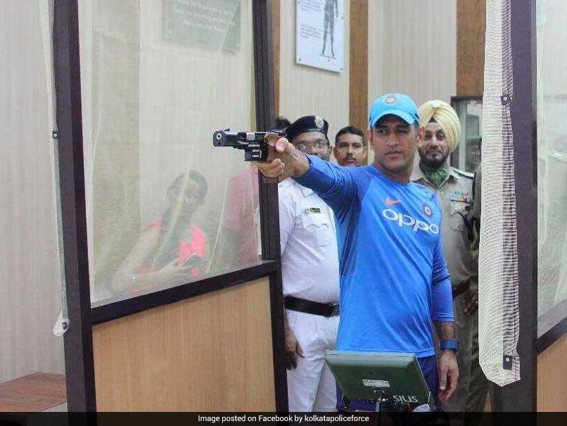 Watch: Mahendra Singh Dhoni Picks Up Gun Ahead Of 2nd ODI