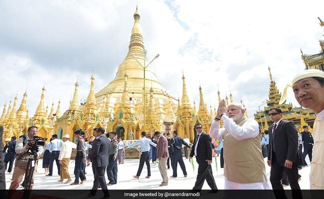 narendra modi shwedagon pagoda myanmar
