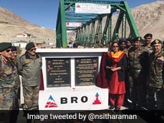 In High-Altitude Leh, Defence Minister Nirmala Sitharaman Inaugurates Strategic Bridge
