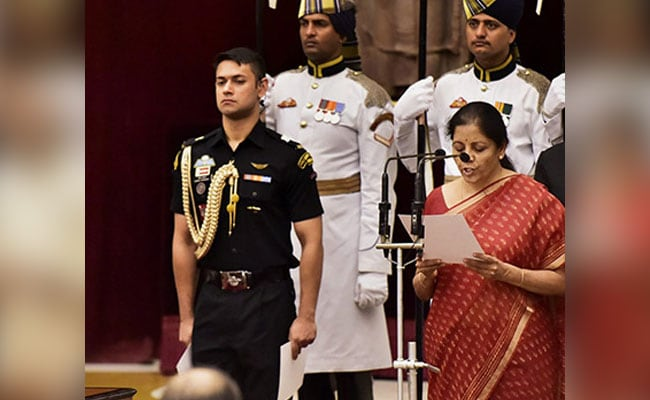 Nirmala Sitharaman takes charge of the crucial Defence ministry from Arun Jaitley